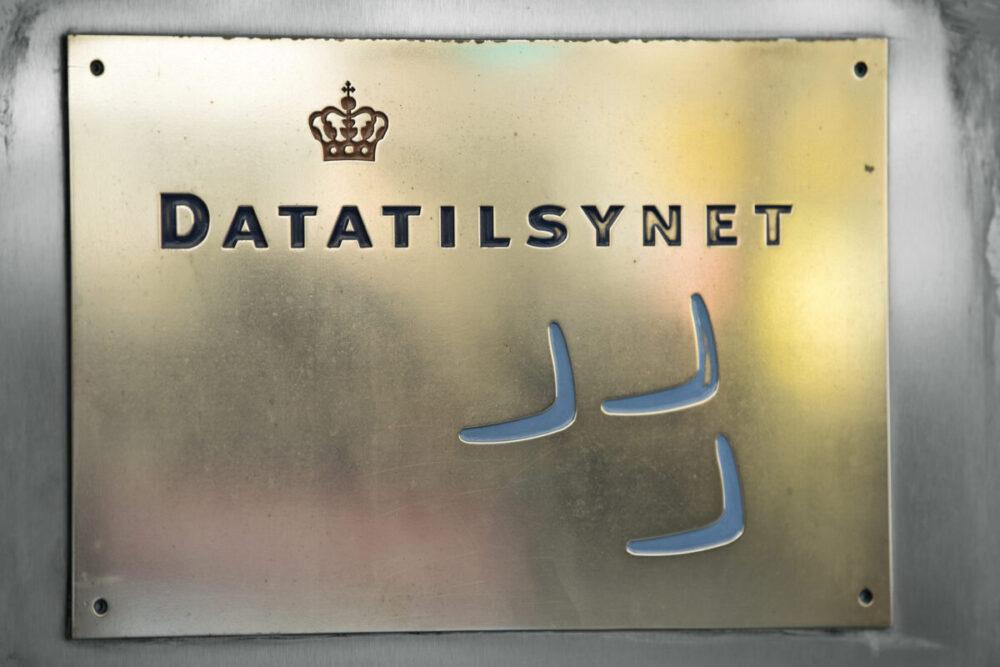 Datatilsynet - dør med logo